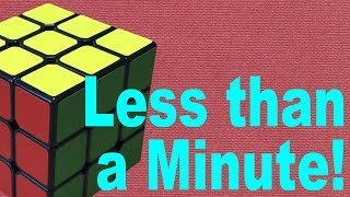 How to Solve a Rubik's Cube in 60 Seconds!