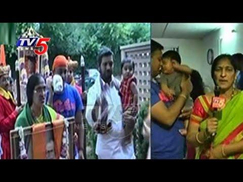 Great Response For Sai Paduka Yatra in Chicago | Shirdi in America : TV5 News