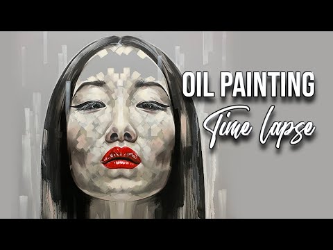 "TIME-LAPSE OIL PAINTING - portrait ""Yiqing Yin"""