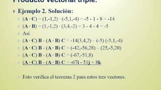 Producto triple escalar y vectorial