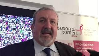 """Evento Komen, Emiliano: """"Lavoriamo per rafforzare la prevenzione"""""""