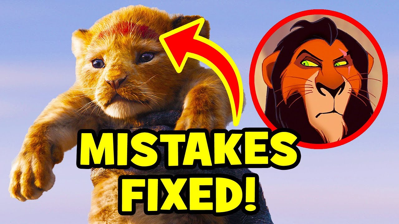 17 Disney Mistakes FIXED In THE LION KING (2019) watch and download videoi make live statistics