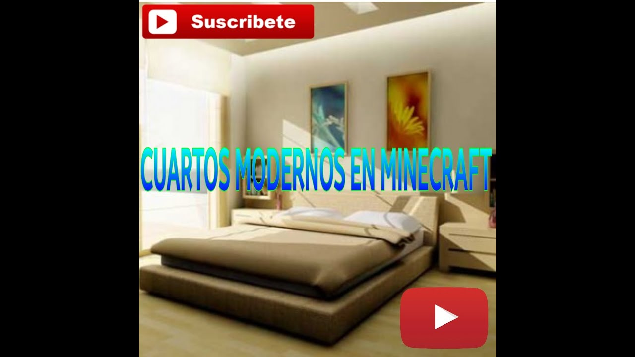 5 tipos de decoraciones para cuartos en minecraft youtube for Decoraciones para habitaciones