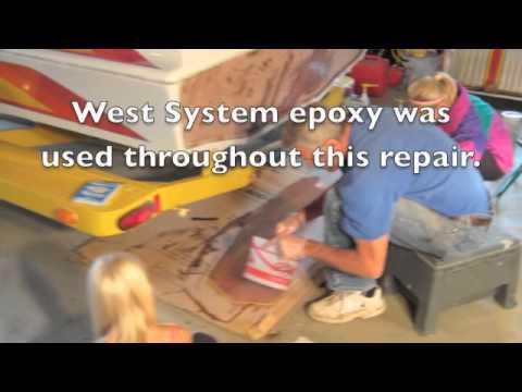 Boat Transom Repair Fall 2011