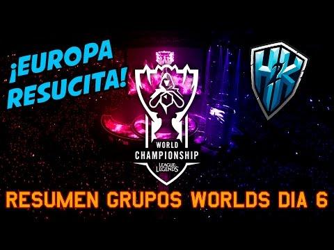 ¡EUROPA RESUCITA! - Resumen WORLDS día 6 | Noticias League Of Legends LoL COMPETITIVO
