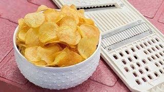 চিপস কাটার ছাড়াই ক্রিস্পি পটেটো চিপস তৈরী   Easy and Simple Crispy Potato Chips   Bangla Recipe