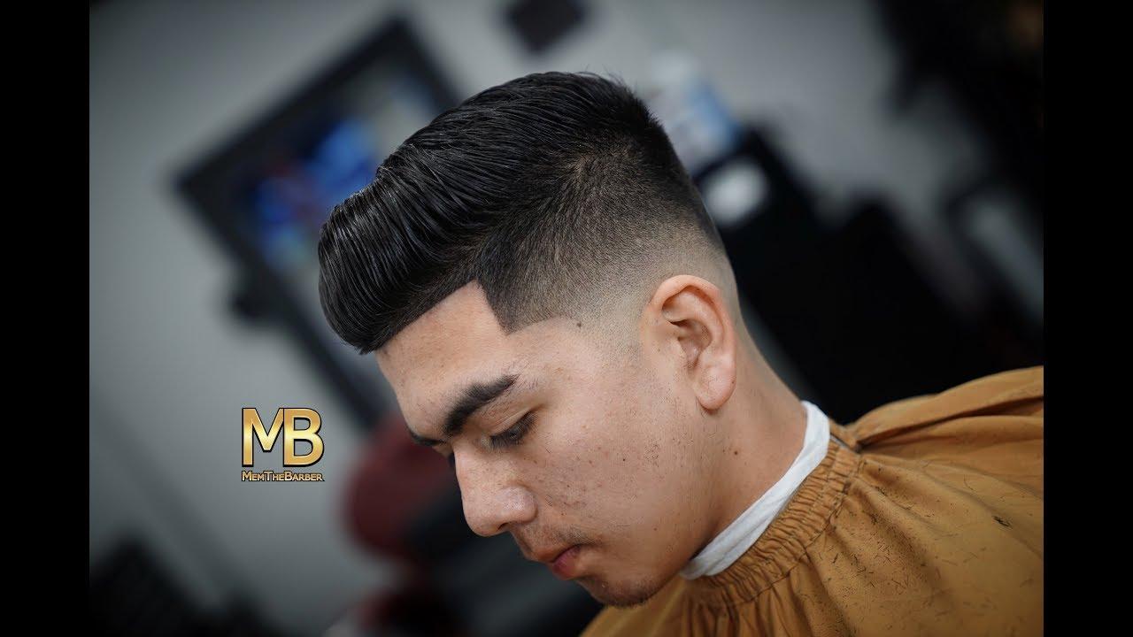 Barber Tutorial Comb Over Mid Drop Fade Youtube