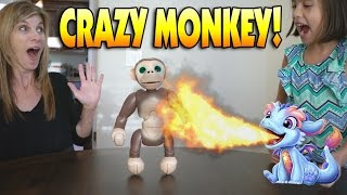 Repeat youtube video CRAZY MONKEY!!! Fun with Zoomer Chimp, Torch My Blazin' Dragon & Barbie Hello Dream House!