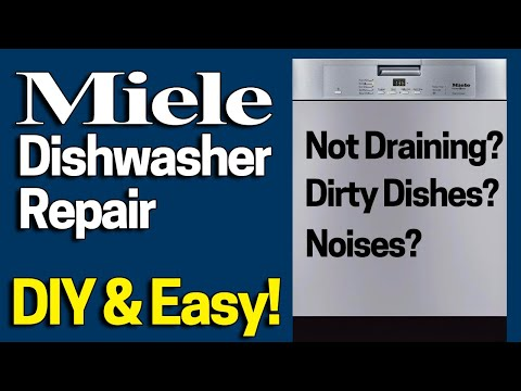 Miele Dishwasher Repair - Not Draining / Grinding Noises Fix In 1 Minute - Dishes Not Getting Clean?