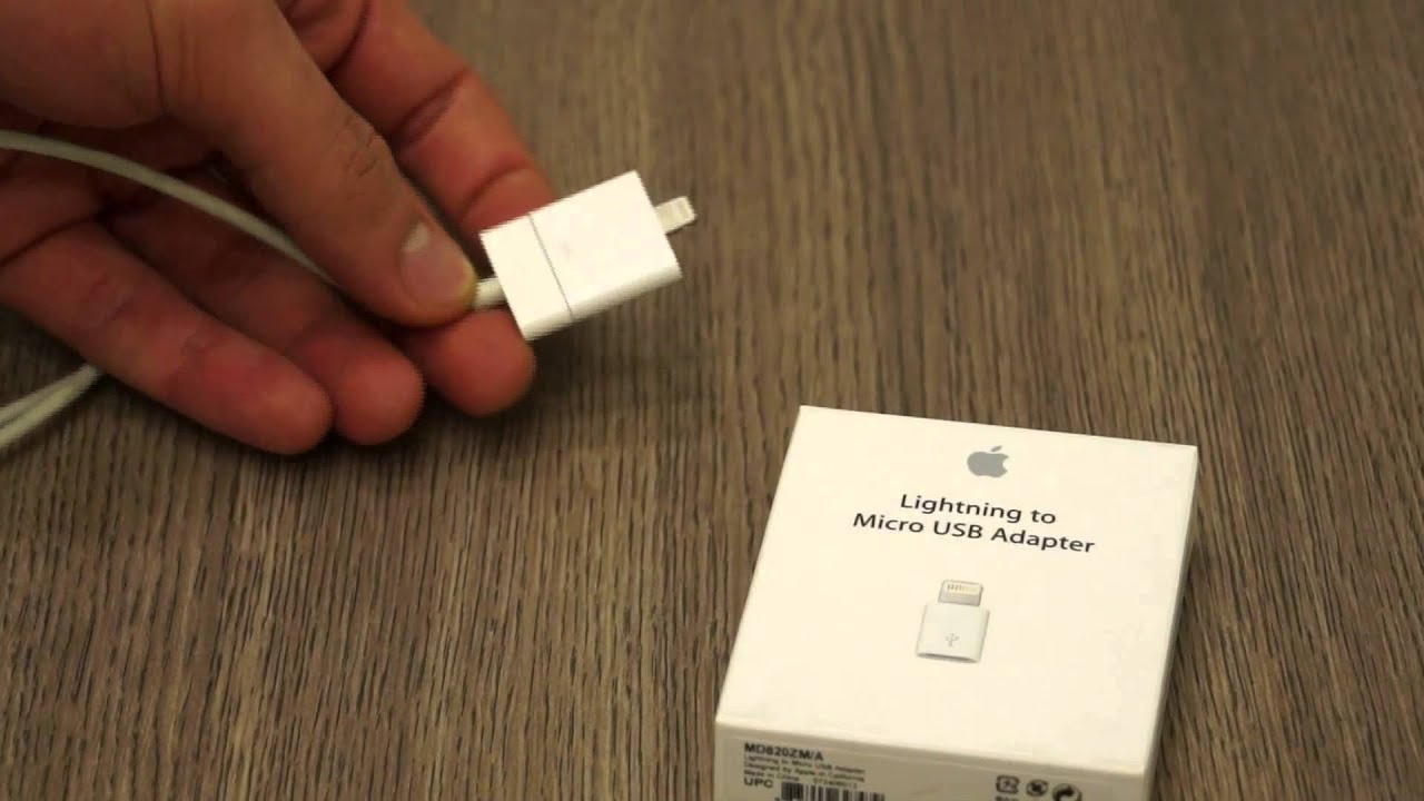 Apple 30 Pin To Lightning Adapter And Micro Usb To Lightning Adapter