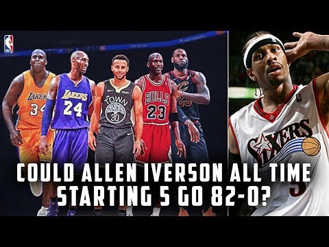 COULD ALLEN IVERSON ALL TIME STARTING 5 GO 82-0? | NBA 2K19 CHALLENGE