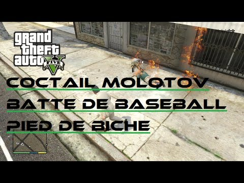gta 5 pied de biche batte de baseball cocktail molotov youtube. Black Bedroom Furniture Sets. Home Design Ideas