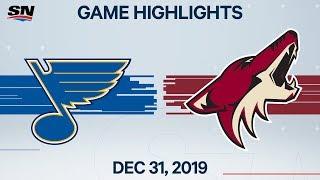 NHL Highlights   Blues vs. Coyotes - Dec. 31, 2019