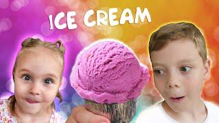 Макс и Софи делают домашнее мороженое 🍧 Max and Sofi make ice cream at home