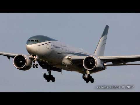 [FULL HD] Angola President VIP 777 landing Barcelona-El Prat