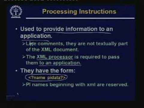 Lecture -16 Extensible Markup Language (XML)