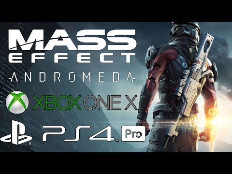 [4K] Mass Effect Andromeda Xbox One X vs PS4 Pro Graphics Comparison!
