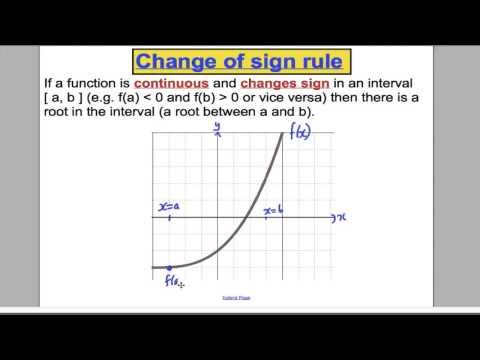 Numerical Methods (1) - FP1 Edexcel Maths A-Level