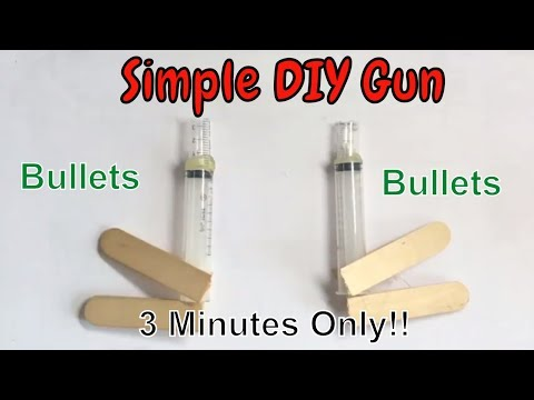 Hacks And Crafts - How to make a simple Nerf Pistol (So easy DIY)