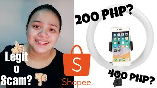 AFFORDABLE 26CM RING LIGHT FROM SHOPEE | UNBOXING + REVIEW | NICOLE DEE