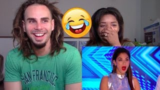 XFactor Try Not to Laugh-Cringe #1 - REACTION
