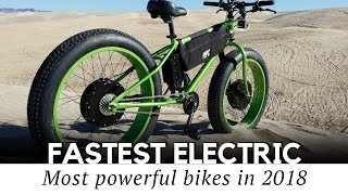Top 10 Fastest Electric Bicycles with Motorbike Speeds (2018 Prices and Specifications)