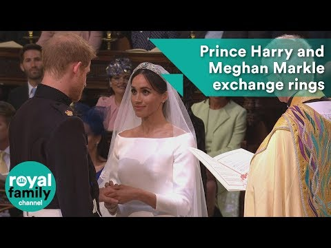 Prince Harry and Meghan Markle exchange wedding rings