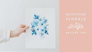 Watercolor Florals Episode Two: Monochrome Motif thumbnail