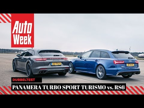 Audi RS6 Performance vs Porsche Panamera Turbo Sport Turismo - AutoWeek Dubbeltest - English subs