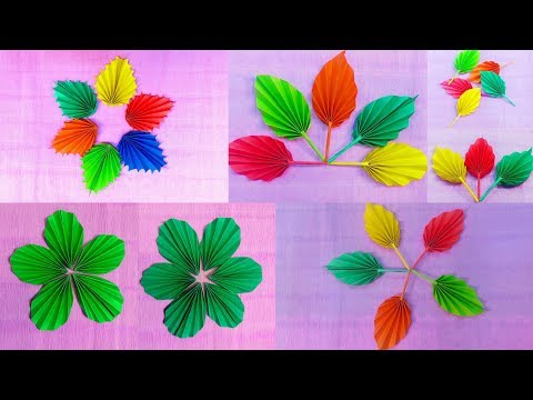3 Types Of Easy & Simple Origami Paper Leaves Tutorial || DIY Crafts Tutorial || Art Of Learning ||
