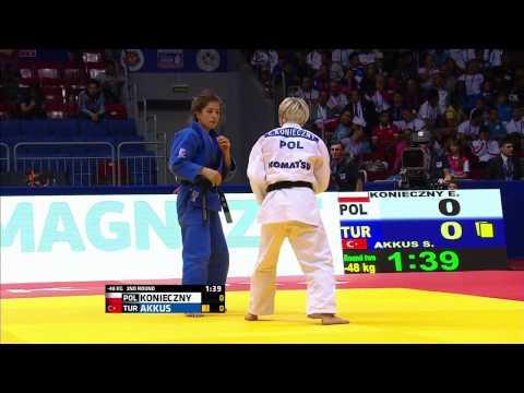 Sümeyye AKKUŞ (TUR) - Ewa KONIECZNY (POL) 2014 Dünya Judo Şampiyonası Chelyabinsk