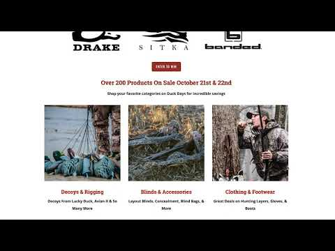 Duck Days Oct 21st & 22nd | Incredible Deals on Waterfowl Gear & Giveaways from Top Brands thumbnail