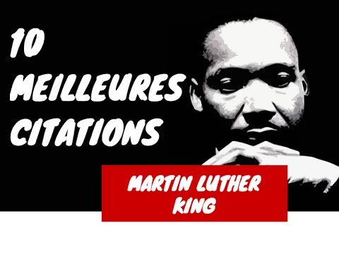 Célèbre Martin Luther King citations: ses 10 Meilleures Citations - YouTube WL42
