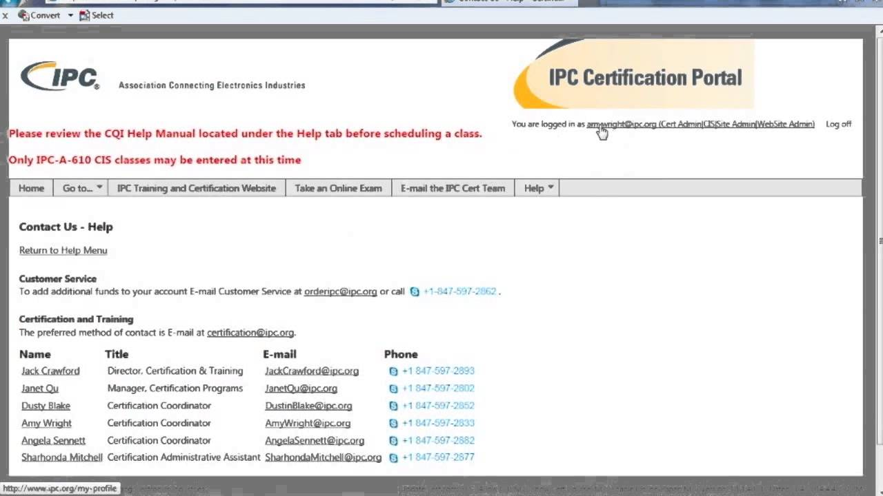 Ipc Certification Portal User Guide Part 2 Youtube