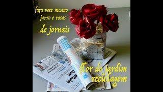Como Faça Rosas e Jarro de Jornal