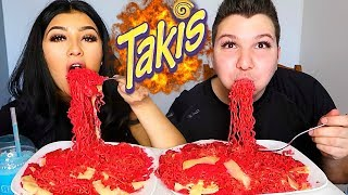 (Not For Kids) Takis Noodles With Cheese  MUKBANG