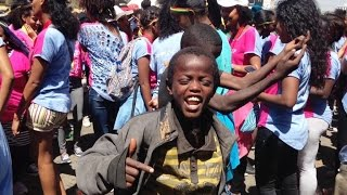 Talented homeless kids having fun Addis Ababa Ethiopia