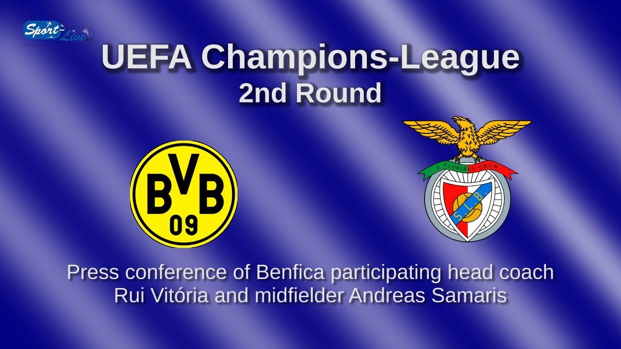 Borussia Dortmund - Benfica Lissabon: Pk von Benfica mit Andreas Samaris und Rui Vitória