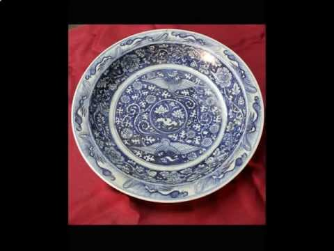 #7 Antique Chinese porcelain Yuan Dynasty plate.avi