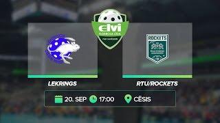 🎥 ELVI florbola līga: Lekrings - RTU/Rockets (20.09.2020)