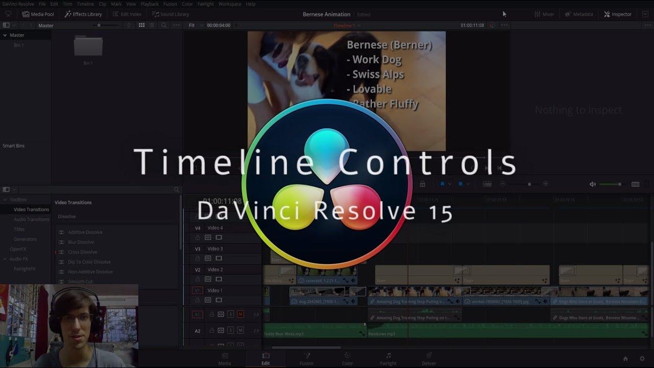 Basic Editing & Controls in the Timeline - DaVinci Resolve 15 Tutorial