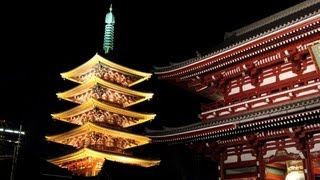 Sensoji Temple Night View at Asakusa, Tokyo [iPhone 4S/HD]