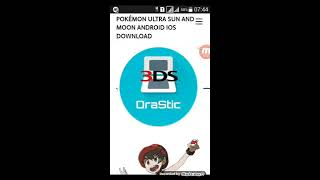 Pokemon ultra sun and moon rom + drastic 3ds andriod ios Phone by SINS  GAMING
