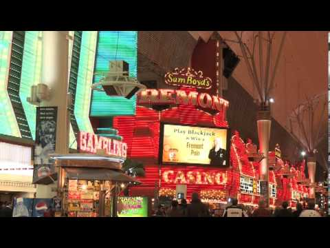Las Vegas Fremont Street Experience Hotels and Casinos Light Shows Glitter Gulch Neon Mall at Night