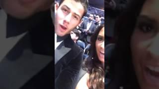 Demi Lovato and Nick Jonas via UFC's Snapchat story - 11/12/2016
