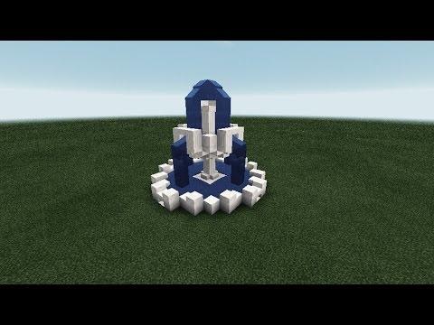 Как сделать красивый фонтан в майнкрафт