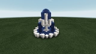 как сделать фонтан в Майнкрафте