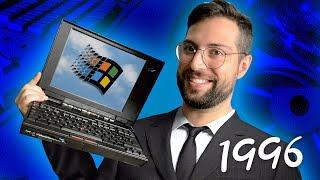 ¿Qué podías hacer con un PORTÁTIL en 1996? | IBM Thinkpad y Windows 95