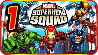 Marvel Super Hero Squad Walkthrough Part 1 (PS2, PSP, Wii) Mission : Prologue (1)