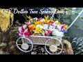 DIY Dollar Tree Floral Wagon Decor - Great Outdoor Porch Decor